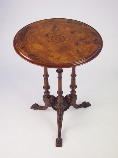 Victorian Burr Walnut Tripod Table