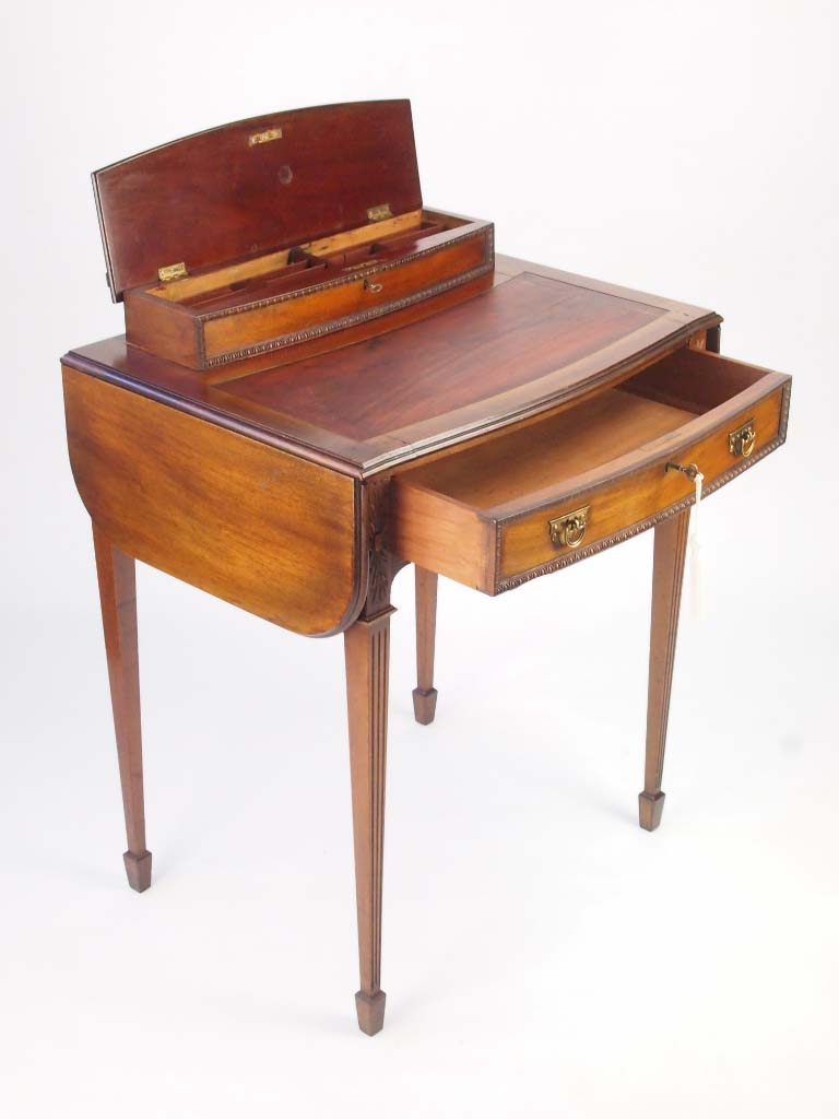 Mahogany Writing Desk ~ Small antique mahogany ladys writing desk
