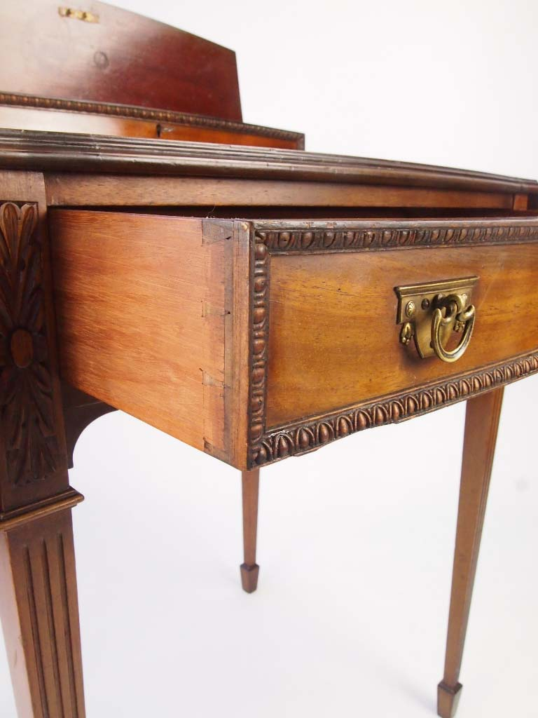 Antique Writing Desk ~ Small antique mahogany ladys writing desk