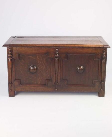 vintage oak blanket chest
