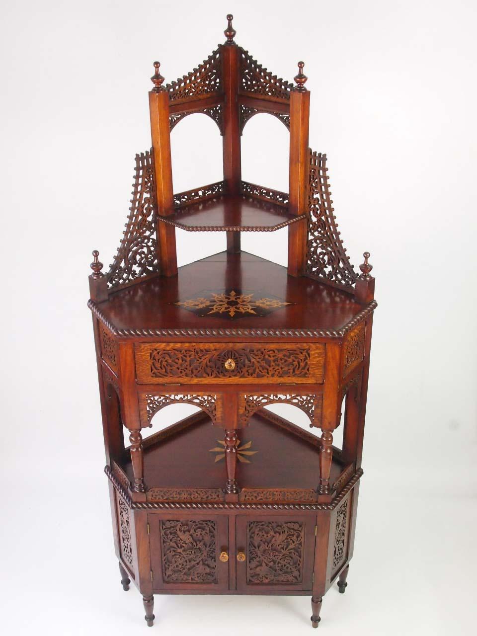 Antique Victorian Floor Standing Corner Cupboard For Sale Online