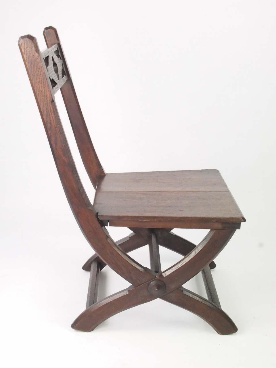 Antique victorian gothic revival side chair for sale for Victorian gothic chair