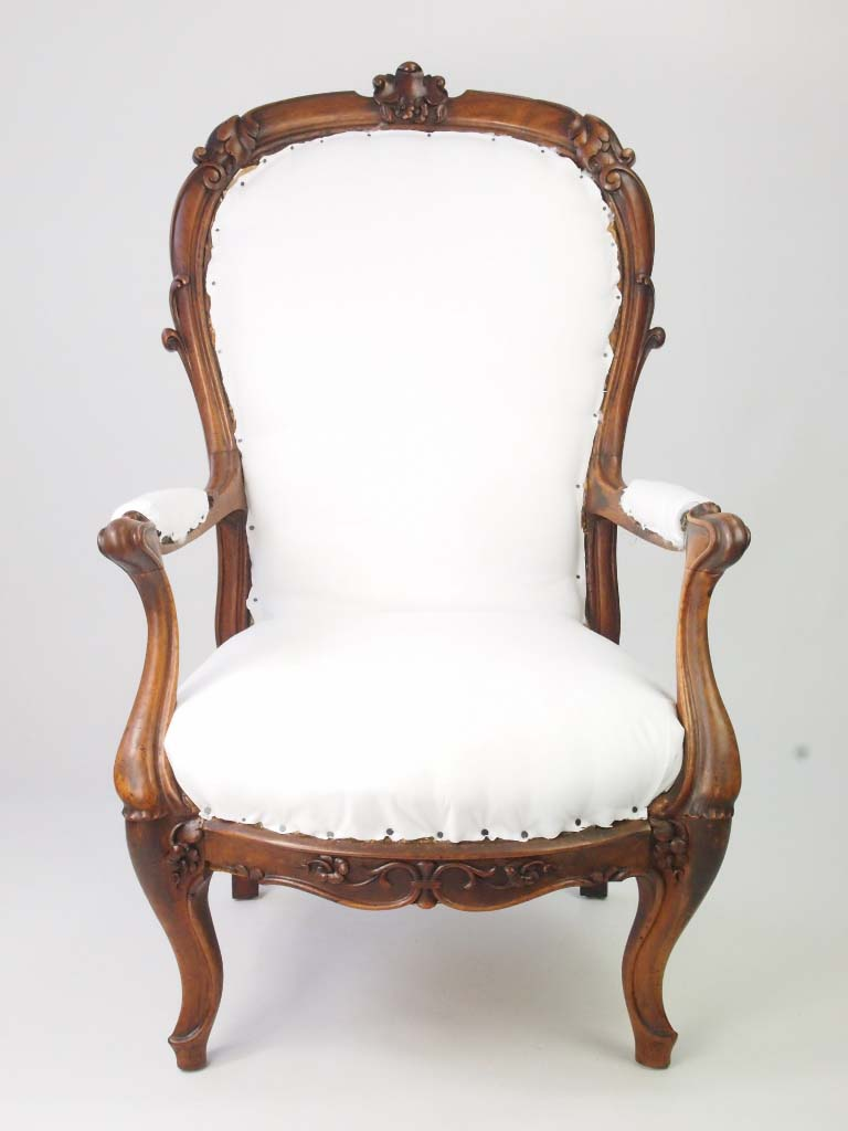 Antique Victorian Open Armchair For Sale Online