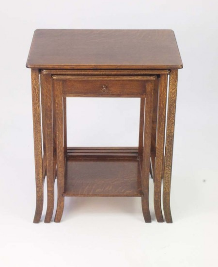 Antique Nest Oak Tables