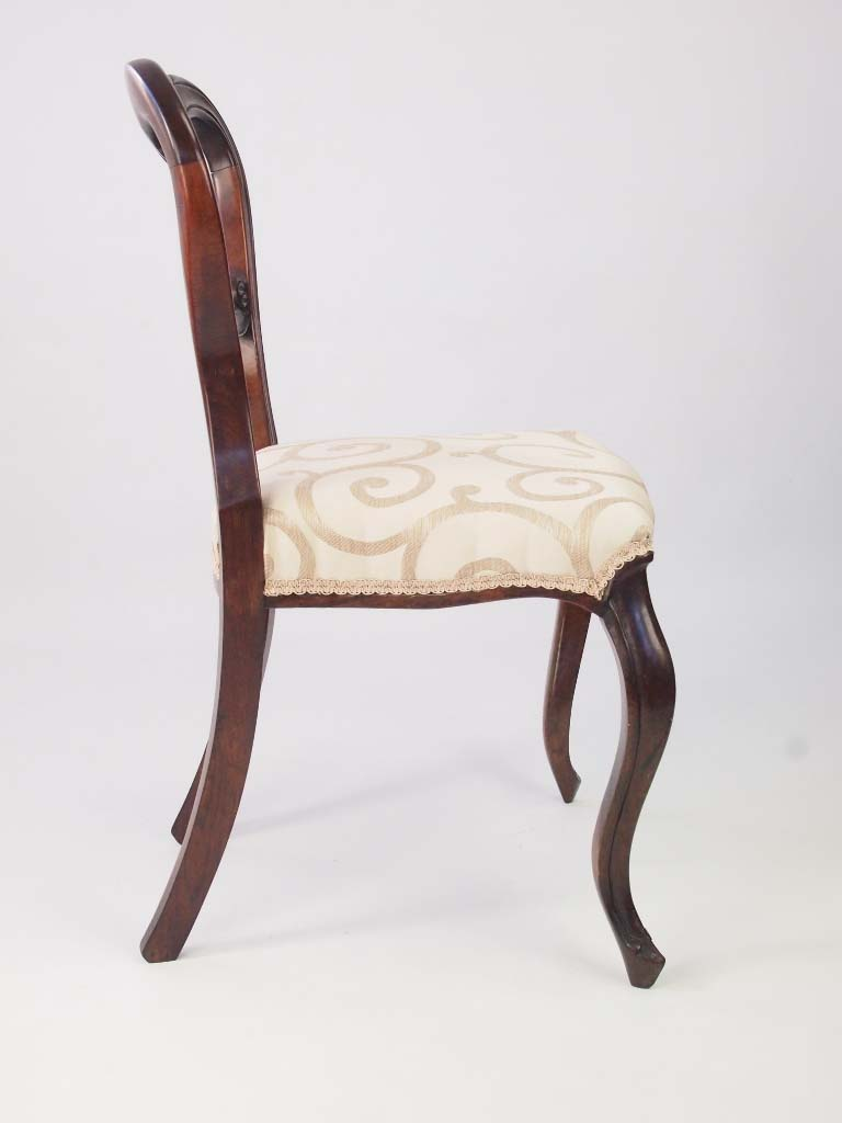 Antique Victorian Rosewood Balloon Back Chair