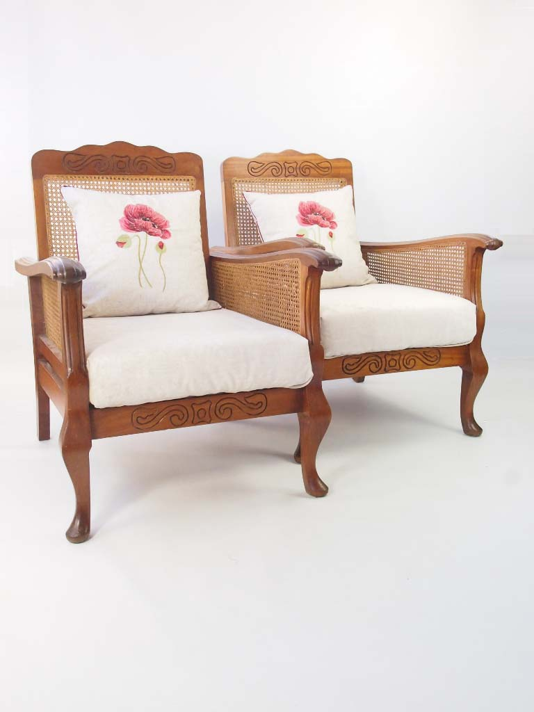 Pair Art Deco Begere Armchairs For Sale