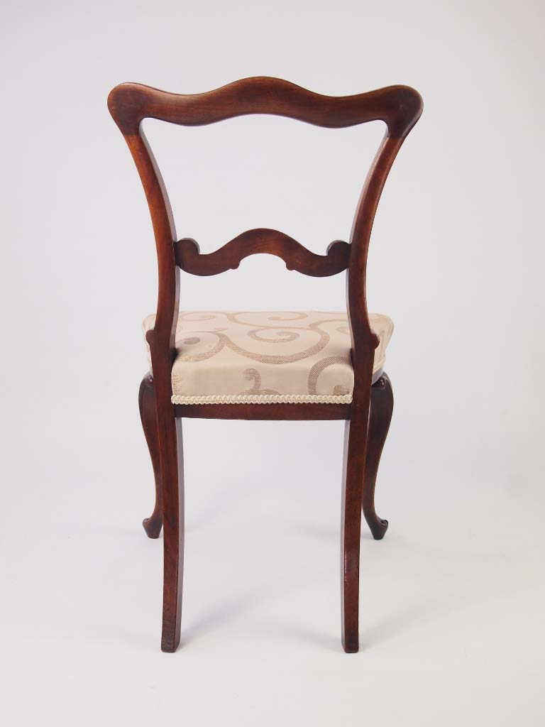 Small Antique Victorian Rosewood Balloon Back Chair For Sale