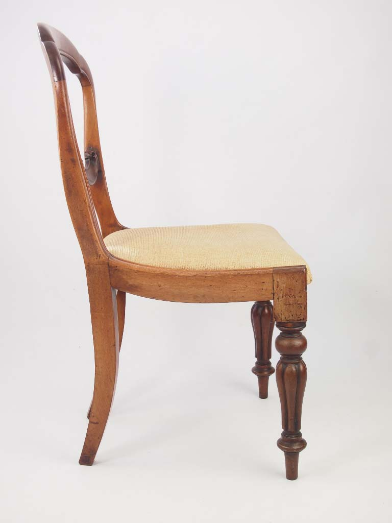 Antique Victorian Balloon Back Desk Chair For Sale