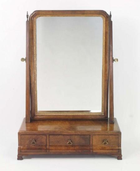 Vintage Georgian Revival Toilet Mirror