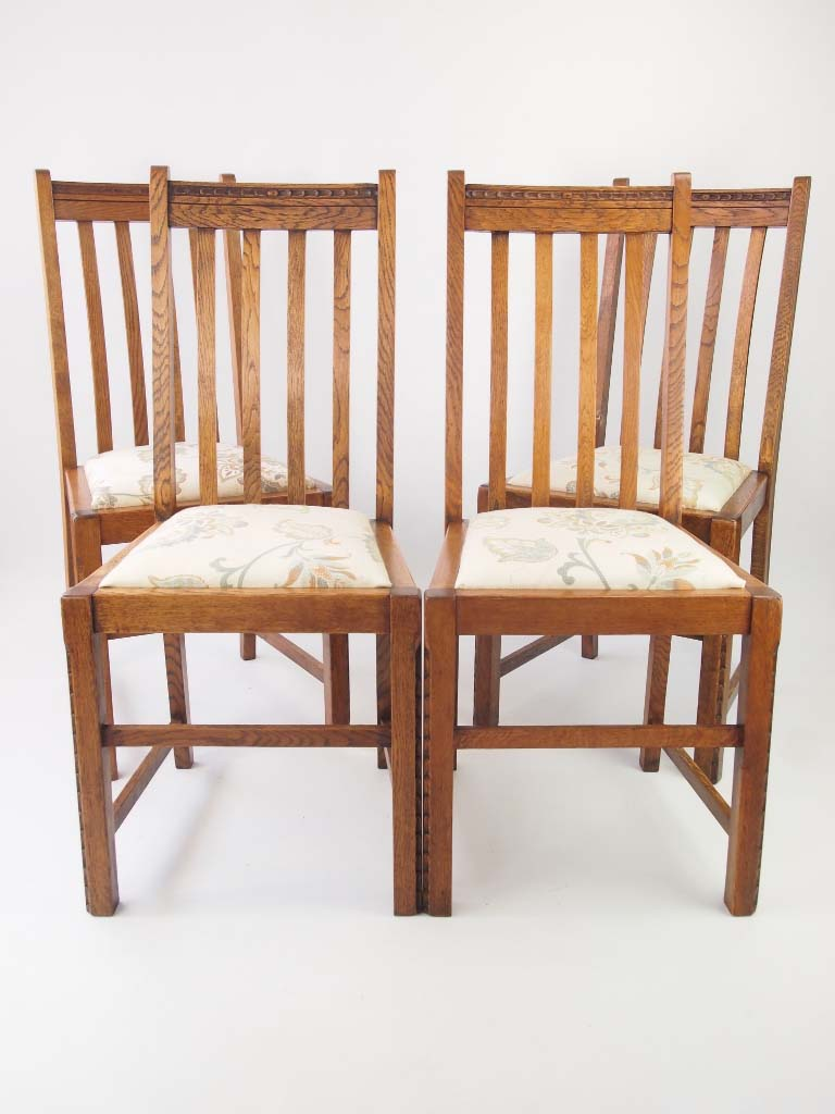Antique Oak Chairs ~ Set vintage oak chairs