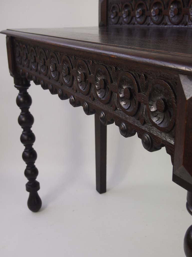 Victorian Foyer Table : Antique victorian carved oak hall table for sale