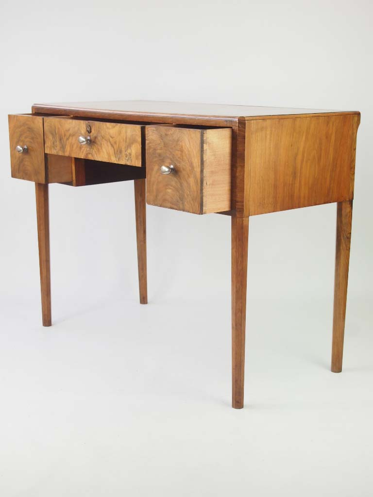 small deco desk in walnut for sale