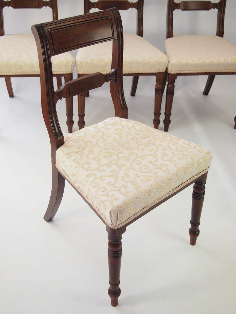 Set 6 Antique Regency Mahogany Dining Chairs For Sale
