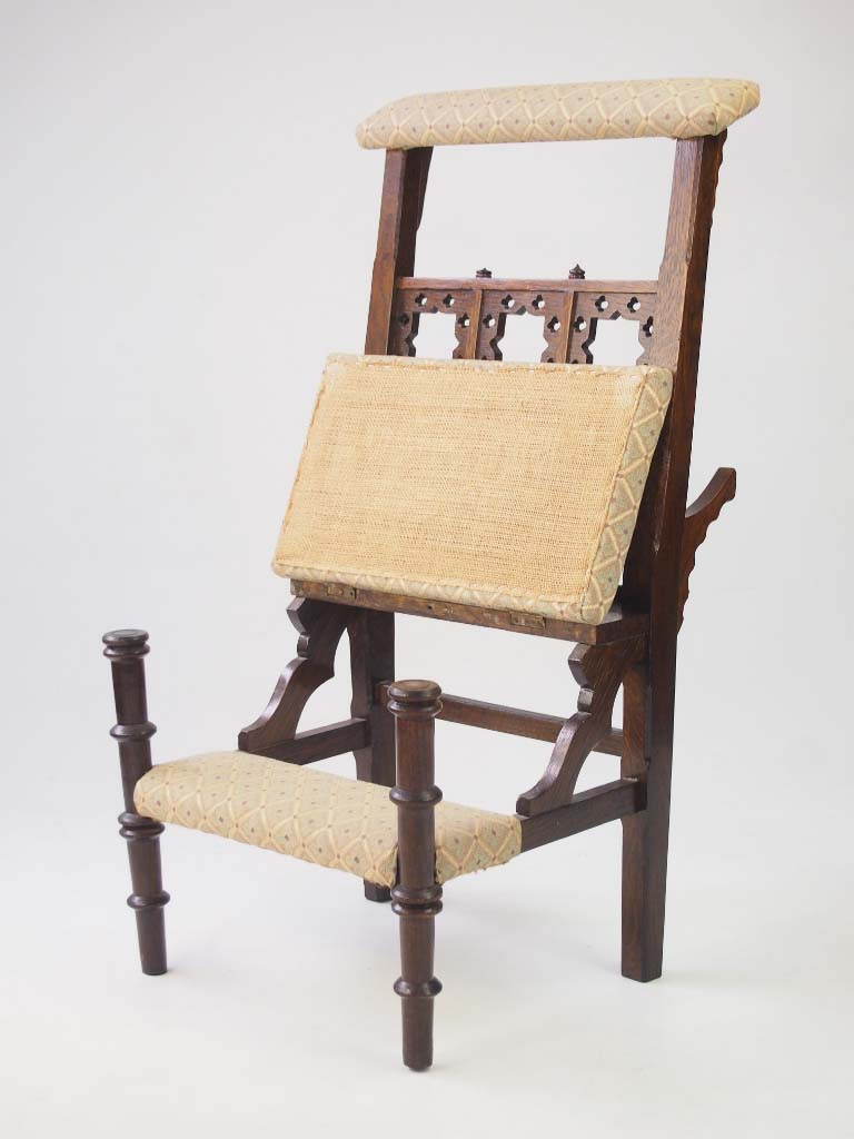 victorian metamorphic prayer chair for sale. Black Bedroom Furniture Sets. Home Design Ideas