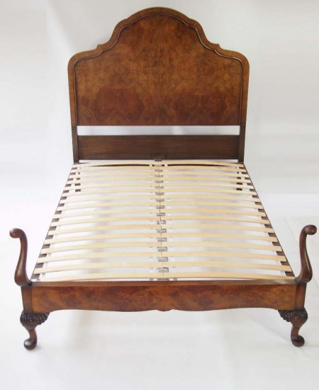 Queen Anne Revival Walnut Double Bed