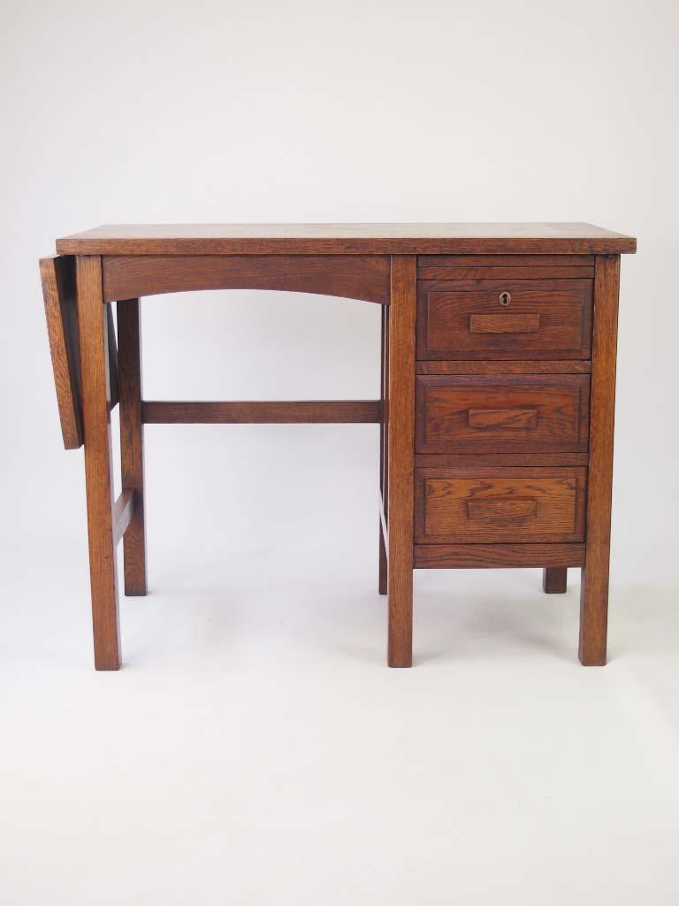 Small Vintage Oak Desk Circa 1930s For Sale
