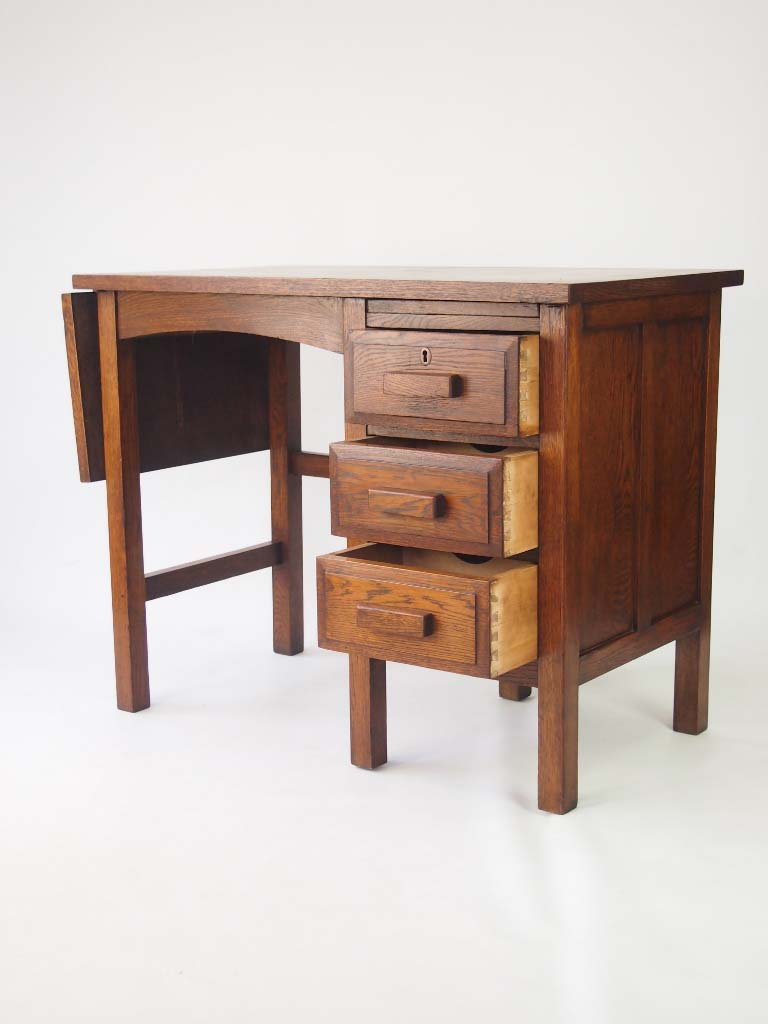 Small vintage oak desk circa 1930s for sale for Reclaimed wood furniture colorado