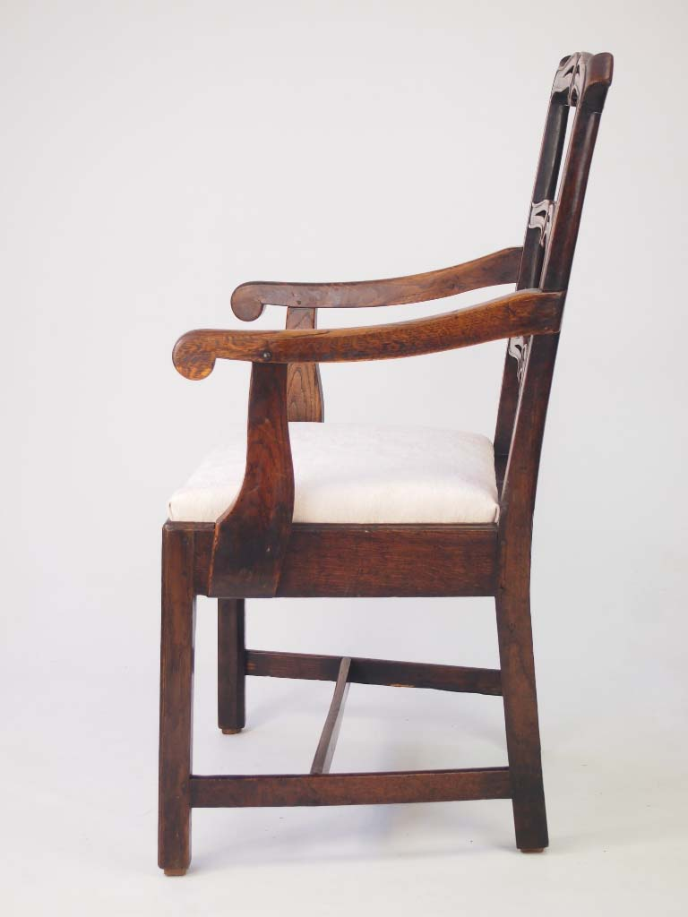 Antique georgian oak ladder back chair for sale Ladder back chairs