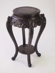 Vintage Carved Chinese Vase Stand
