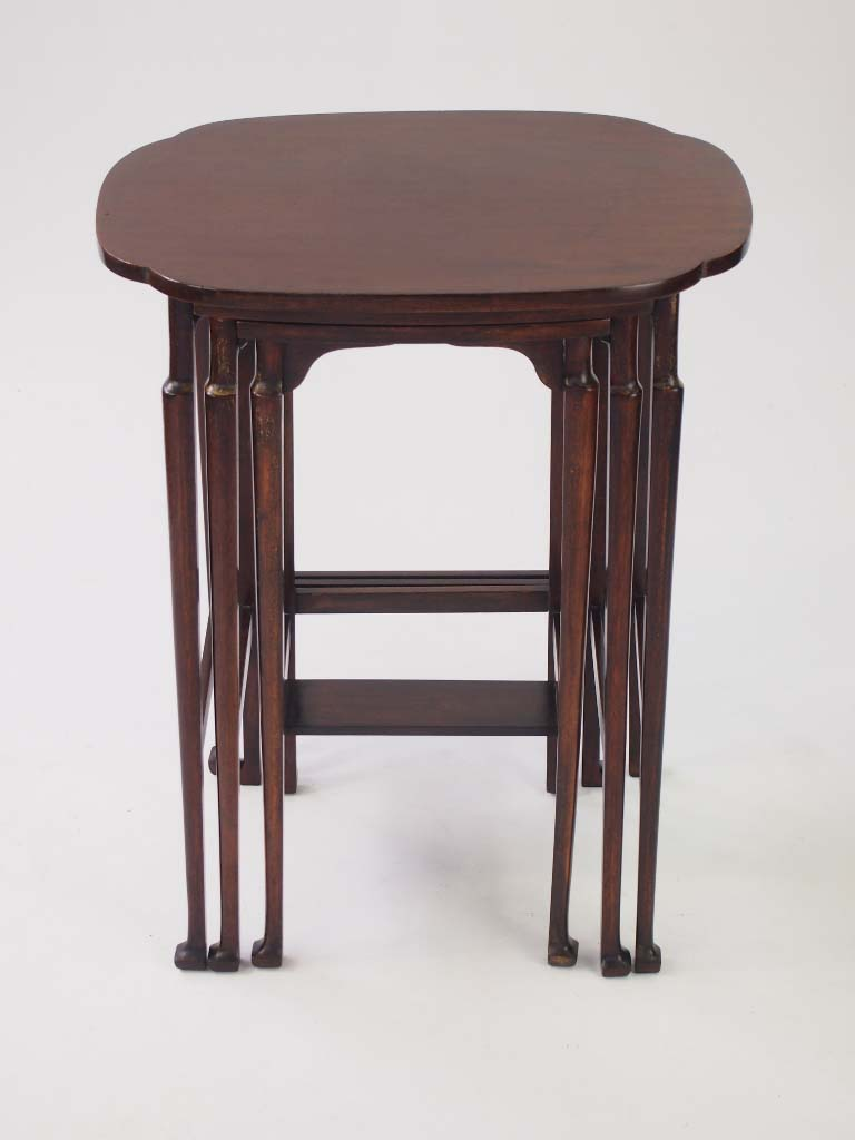 small antique edwardian nest of tables