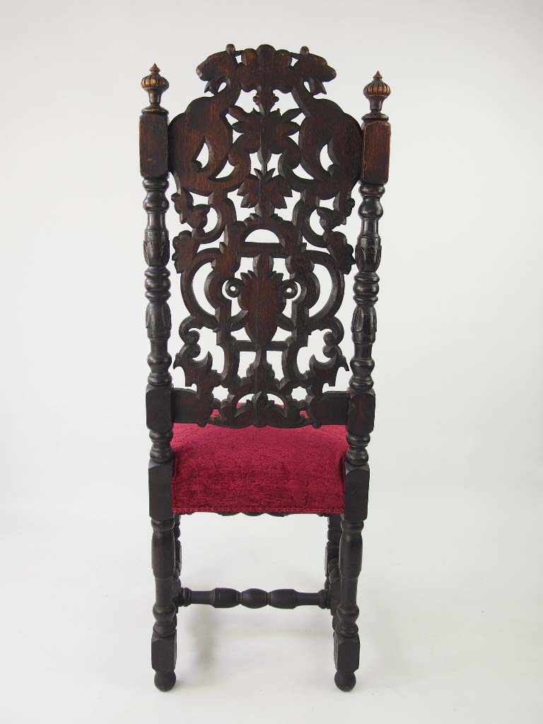 Tall pair of victorian gothic revival chairs for Victorian gothic chair