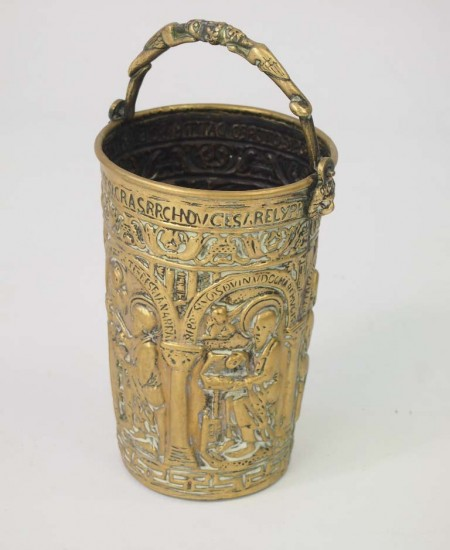 Small 19th Century French Brass Chancel Bucket