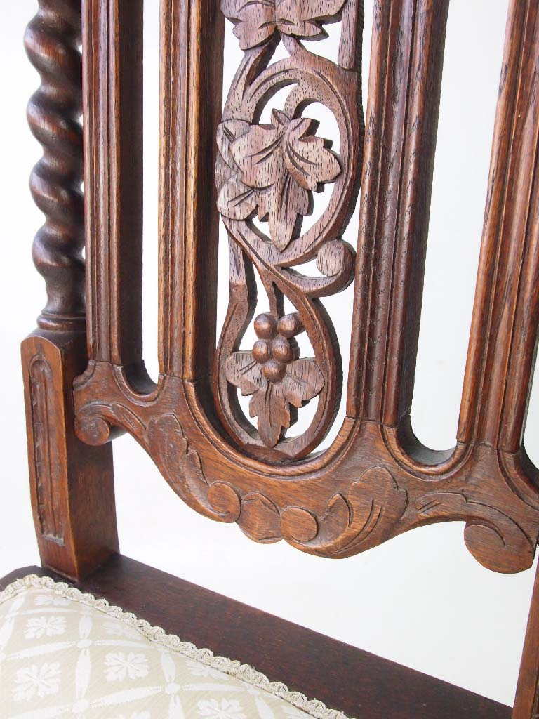 Pair antique victorian gothic revival oak chairs for Victorian gothic style