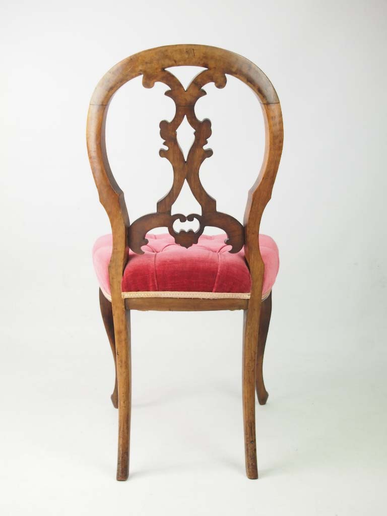 Set 6 Antique Victorian Balloon Back Chairs