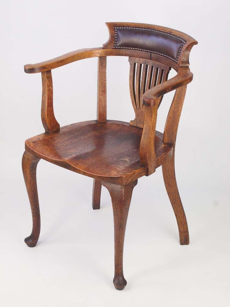 Antique captains chairs - Vintage Oak Captains Chair