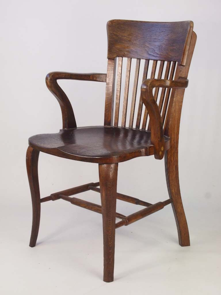 Antique Oak Chairs ~ Vintage oak desk chair