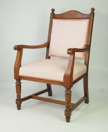Antique Edwardian Oak Armchair