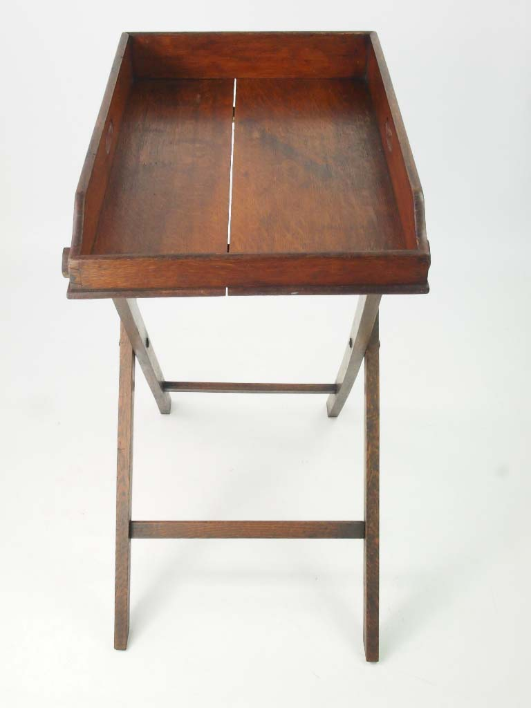 Antique Victorian Oak Butlers Tray Amp Stand