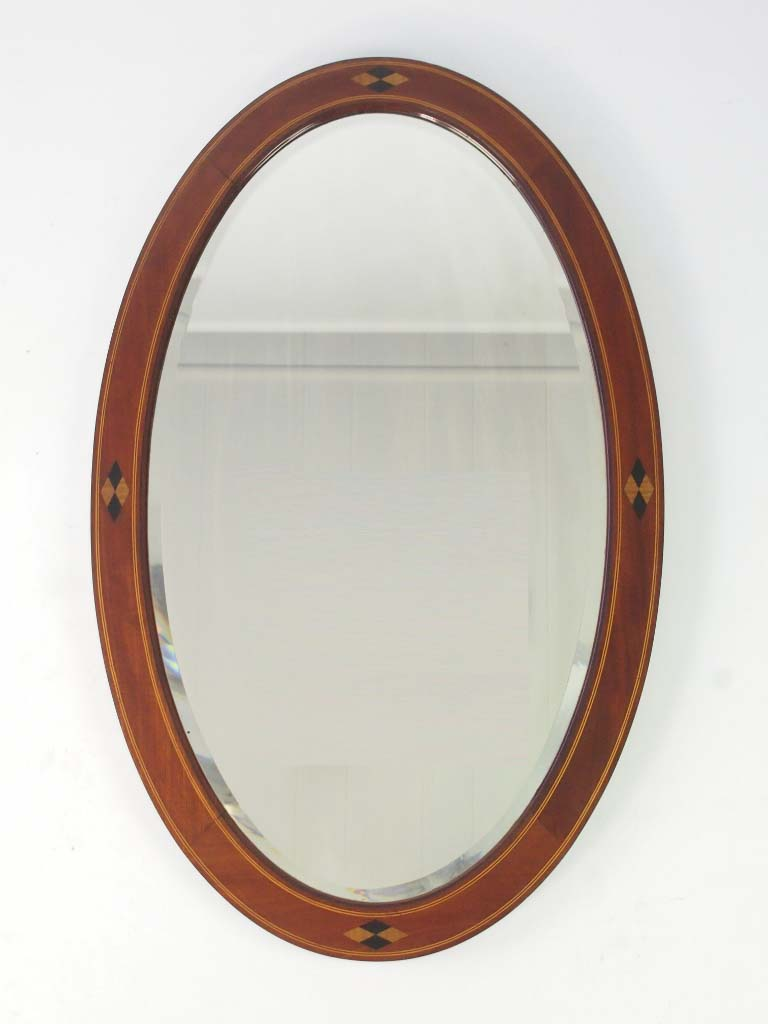 Antique edwardian oval mahogany framed mirror for Mirror o mirror