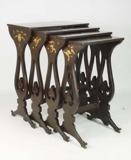 Antique Chinoiserie Quartetto Nest Tables