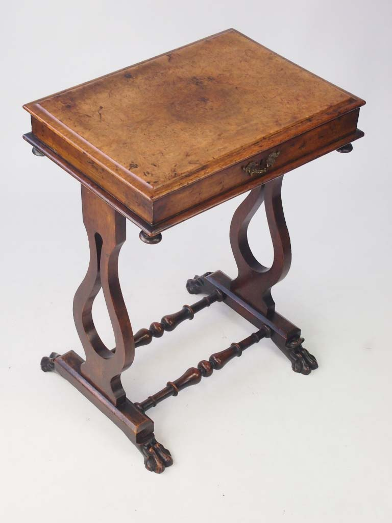 Small victorian walnut side table work table for Tiny side table