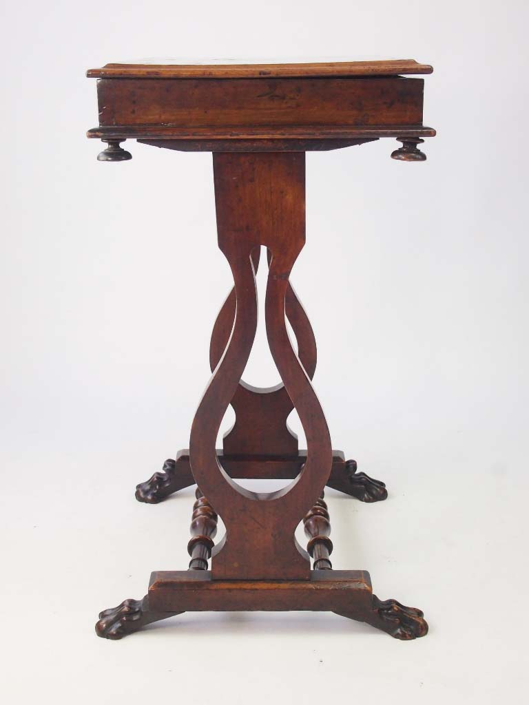 Small victorian walnut side table work table for Furniture work table