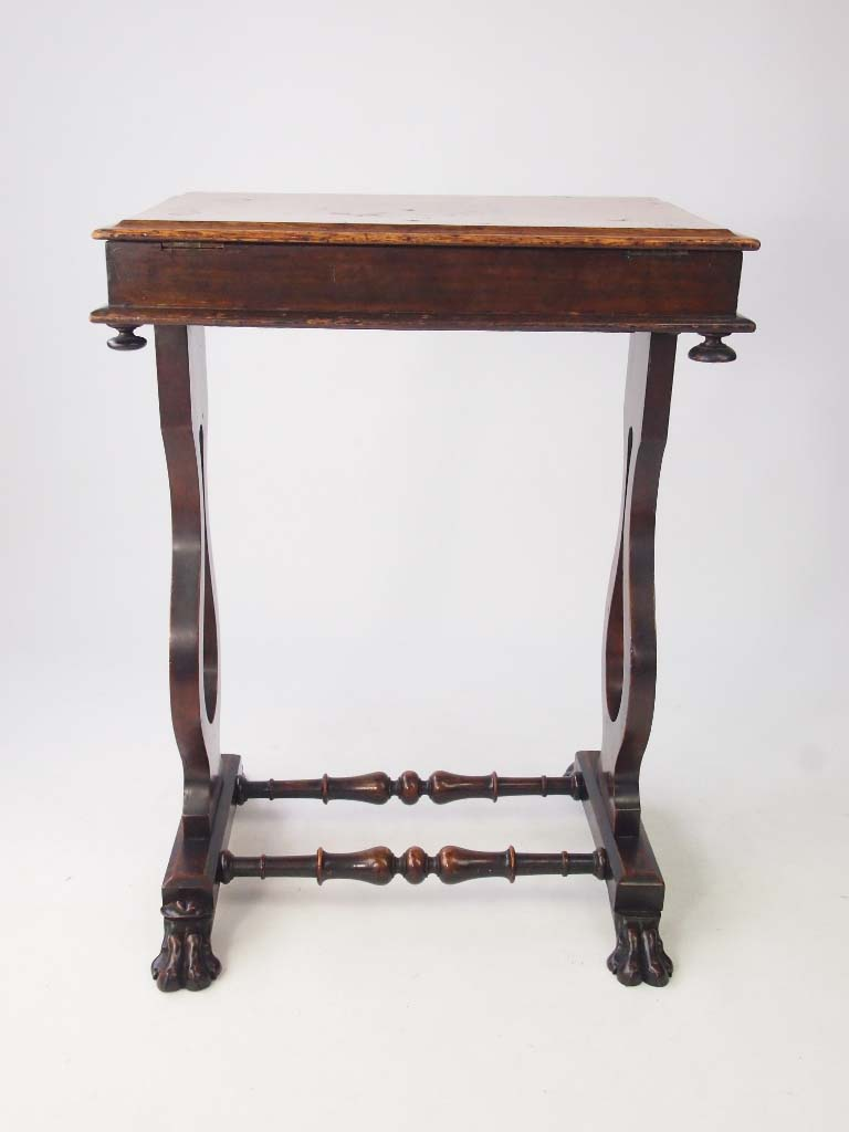Small victorian walnut side table work table for Walnut side table