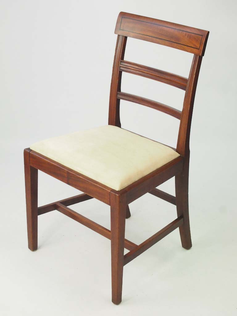 Set antique regency mahogany dining chairs