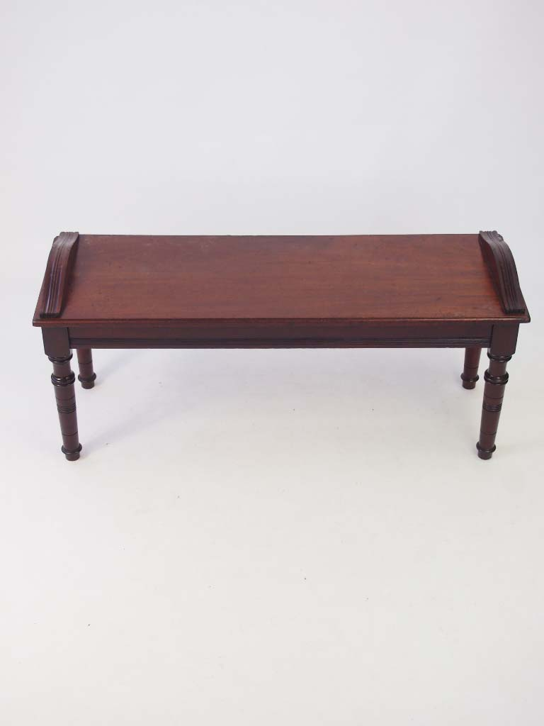 antique victorian window seat hall bench