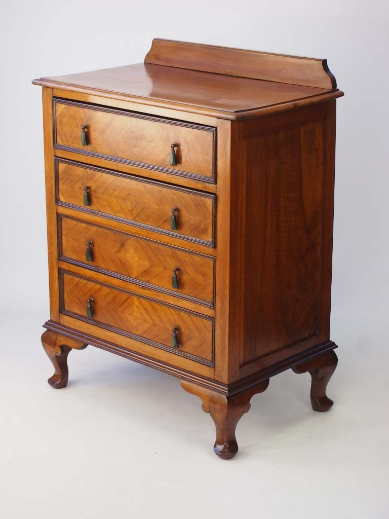 walnut chest of drawers circa 1920s. Black Bedroom Furniture Sets. Home Design Ideas