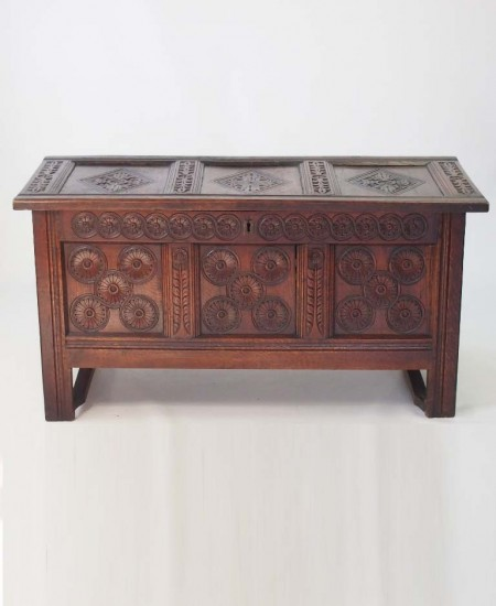 Antique William Mary Oak Coffer