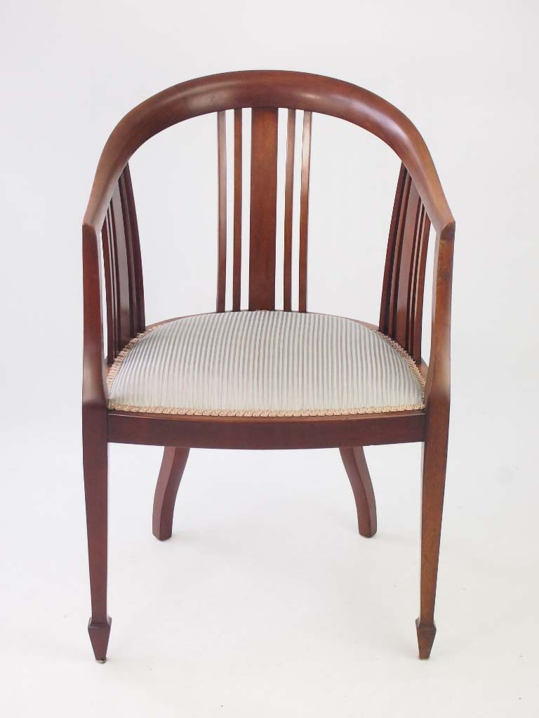 Antique edwardian mahogany tub chair for Furniture direct