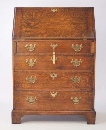 Edwardian Oak Bureau
