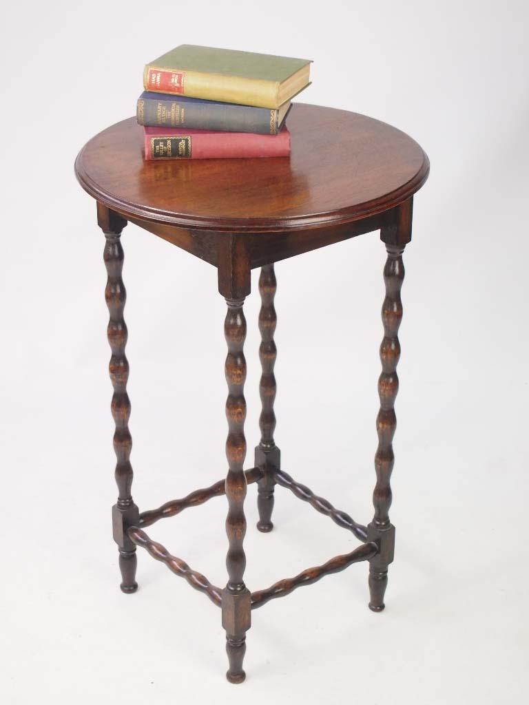 Oak Side Table: Small Edwardian Oak Side Table / Lamp Table