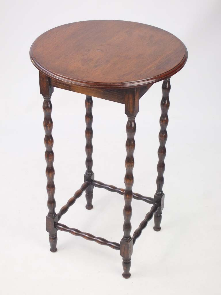Small edwardian oak side table lamp table for Side and lamp tables