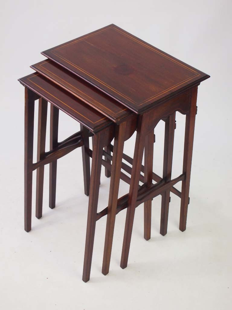 Small edwardian mahogany nest of tables for Small nest of tables