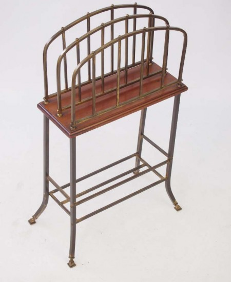Edwardian Brass Newspaper Stand