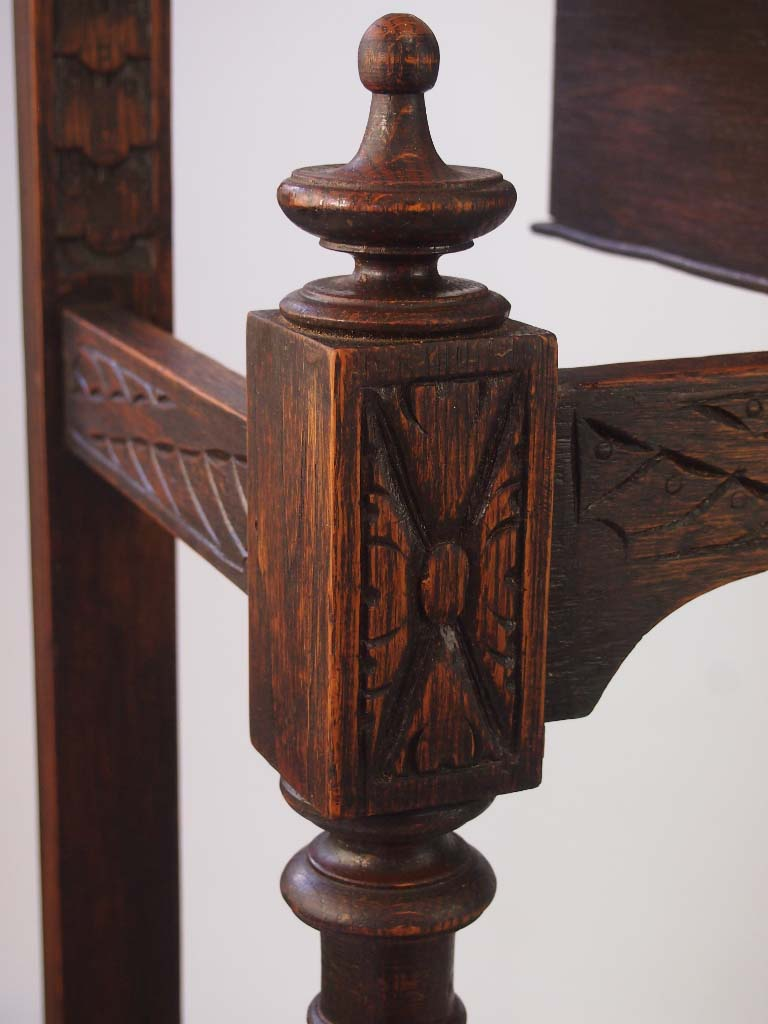Victorian Gothic Carved Oak Hall Umbrella Stand