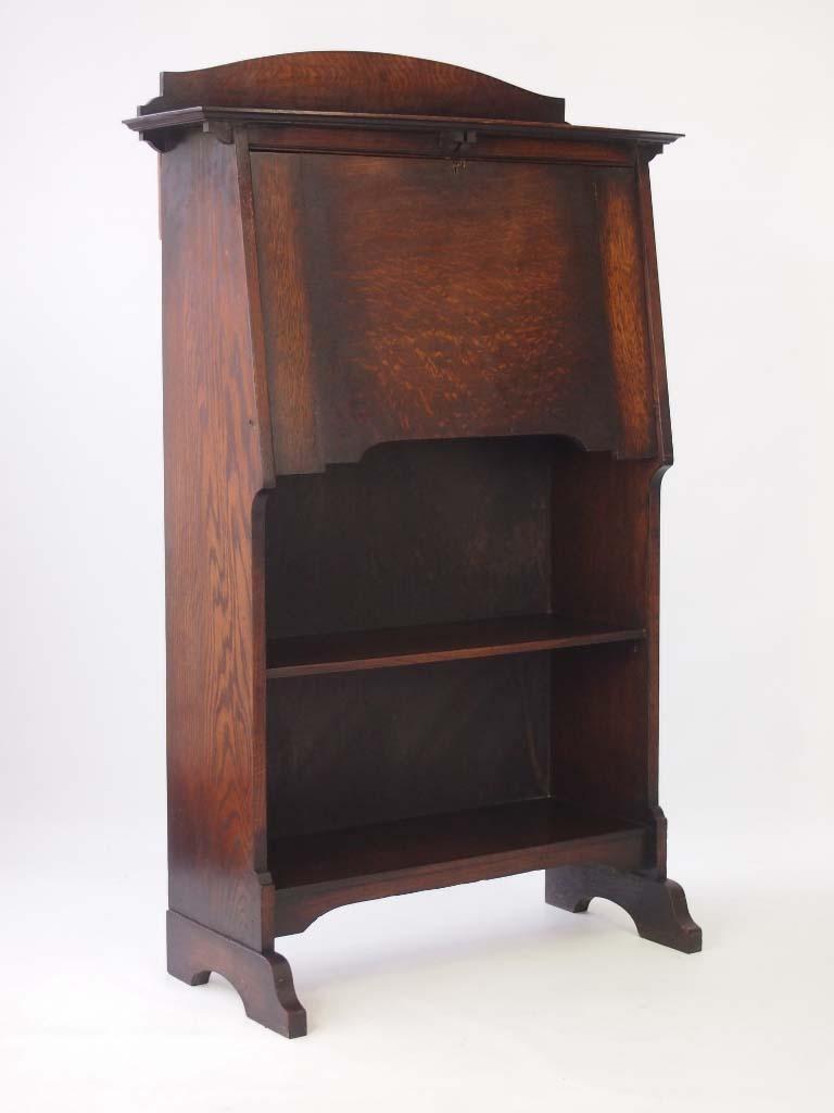 edwardian arts crafts oak hall bureau. Black Bedroom Furniture Sets. Home Design Ideas
