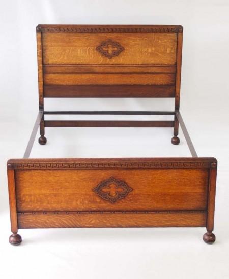 Vintage Oak Double Bed